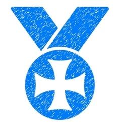 Maltese medal grainy texture icon vector