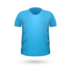 T-shirt teplate front side view vector