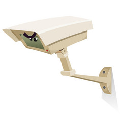 Cctv security camera vector
