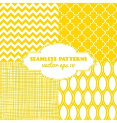 Set of sweet seamless patterns vector
