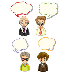 Men with different bubble speeches vector