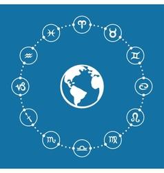 Zodiac infographic vector