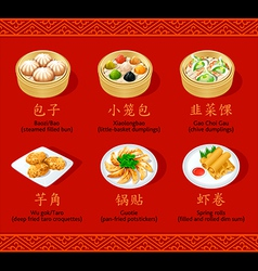 Chinese dumplings set ii vector