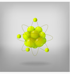 3d abstract atom structure vector