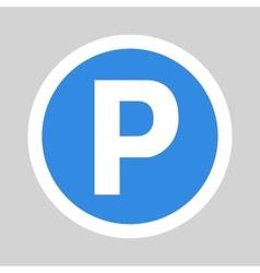 Car parking flat icon sign symbol logo vector