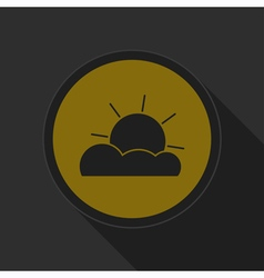 Dark gray and yellow icon - partly cloudy vector