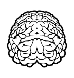 Unique human brain sign vector