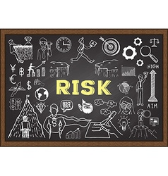 Hand drawn risk on chalkboard vector