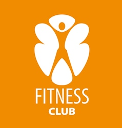 Abstract logo for a fitness club on an orange vector
