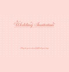 Art wedding greeting card vector