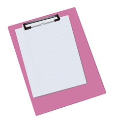 blank clipboard vector image vector image