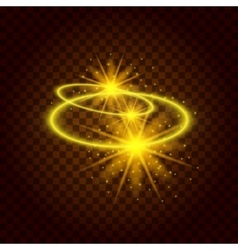 Bright sun burst Cosmic eps background vector image