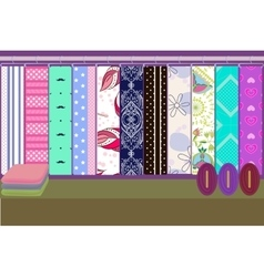 Fabric shop vector