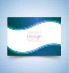 flyer template wave design 2 vector image