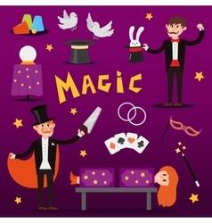 Focus magic symbols set vector