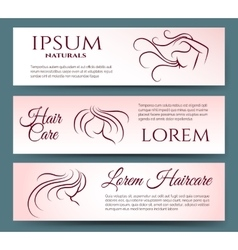 Hair care banners set vector image vector image