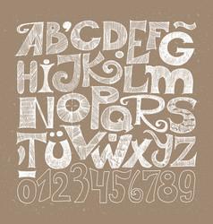 hand drawn decorative typography vector image