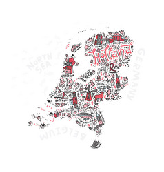 Holland map vector