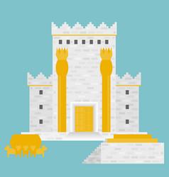 King solomon temple vector