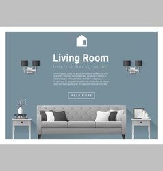 Modern living room Interior background 5 vector image vector image