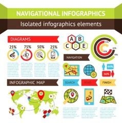 Navigational infographics set vector image vector image