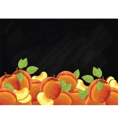 Pear fruit composition on chalkboard vector