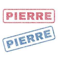 Pierre textile stamps vector