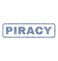 Piracy textile stamp vector