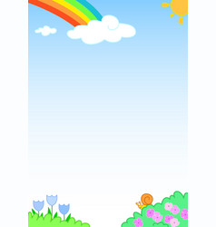 rainbow sky background vector image vector image