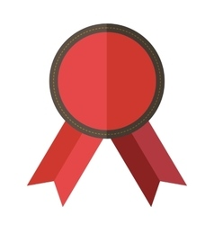Red vintage badge vector image vector image