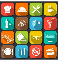 Restaurant Food Icons Flat vector image