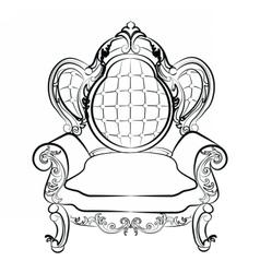 Royal armchair set in baroque style vector