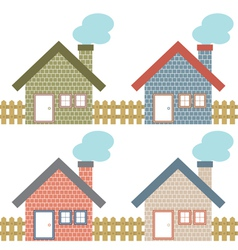 Set of country home style vector
