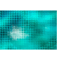 Turquoise green spiral rounded mosaic background vector