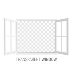 white window template vector image vector image
