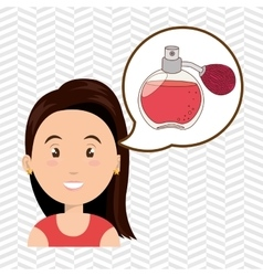 Woman salon fragrance vector