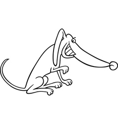 Cartoon dog for coloring book vector