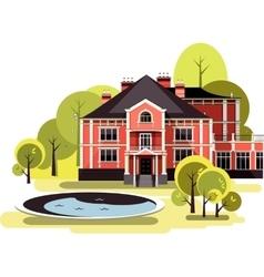 ancient manor vector image