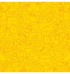 SEO Yellow Line Tile Pattern vector image
