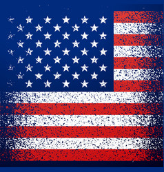 grunge textured american flag background vector image