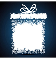 Christmas gift box snowflake design background vector
