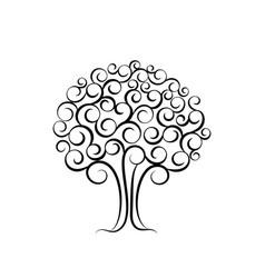 family tree for wedding invitation design vector image