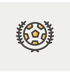 Sports soccer logo badges thin line icon vector