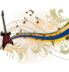 Musical grunge background vector