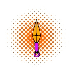 Ninja weapon kunai throwing knife icon vector