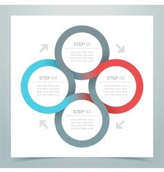 Abstract 4 circle ribbon infographic 1 vector