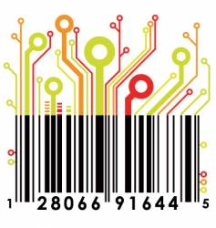 abstract barcode vector image