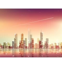 Abstract city skyline vector