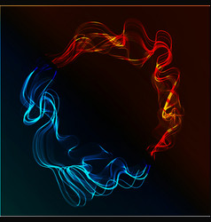 Abstract fire and ice vector