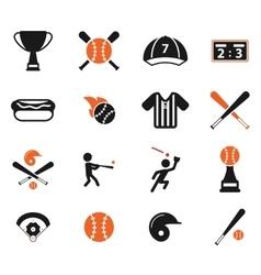 Baseball simply icons vector